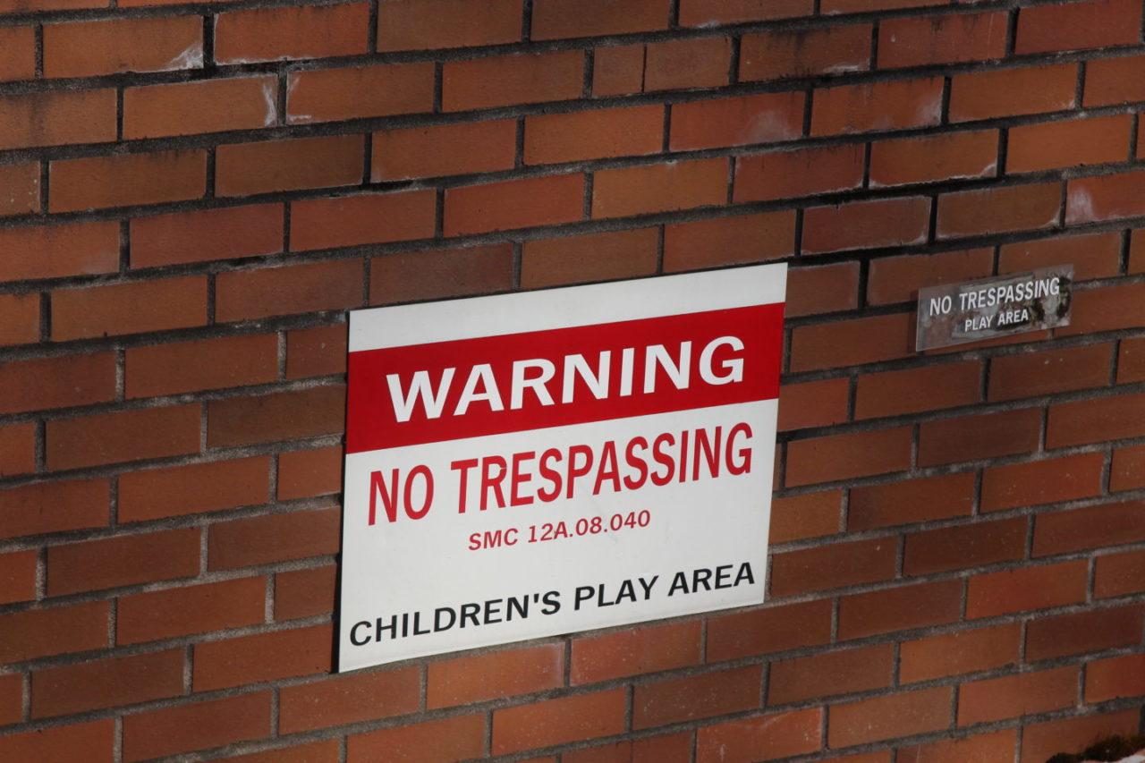 No Trespassing Post