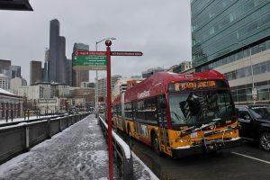 rapid ride c line in snow