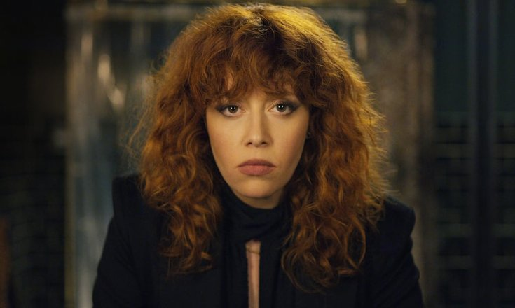 An image of Natasha Lyonne as Nadia in Russian Doll looking into the camera.