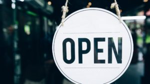 Open Sign on small business