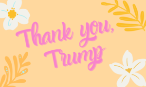Thank you, Trump graphic