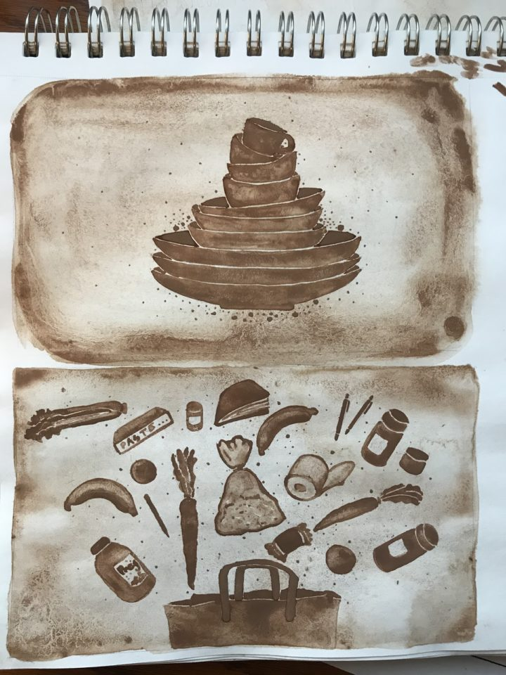 Collegian's column illustration - cocoa painting