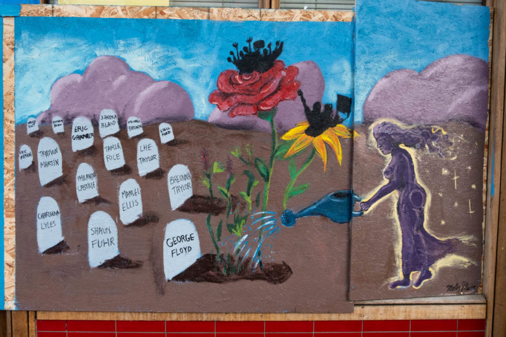 The majority of the mural projects in Seattle's International District memorialized the victims of police brutality.