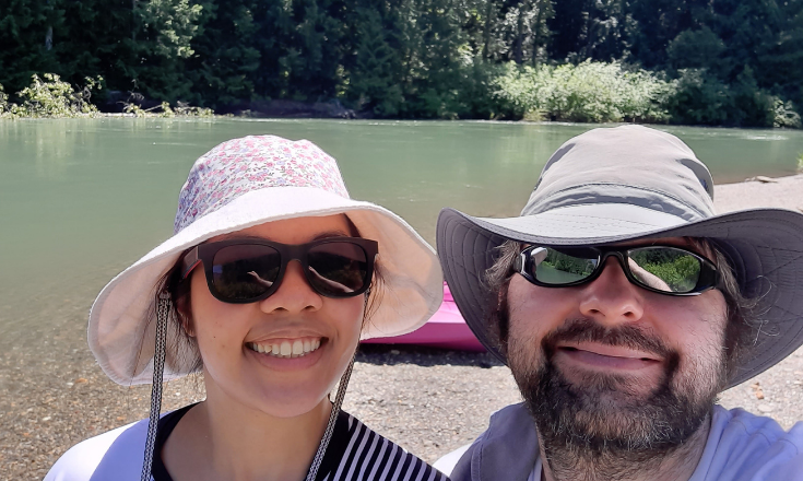 We couldn't wait to kayak more in that beautiful river