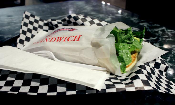 Falafel sandwich from Al Bacha on Broadway